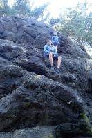 Kletterfelsen auf unserer Site am Cape Disappointment